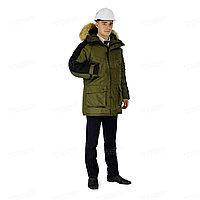 Куртка оливковый/черный Премьер р.48-50/170-76