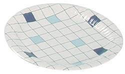 "Тарелка, d 150мм, ""клетка"", картон, 100 шт"