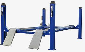 Подъемник четырехстоечный г/п 5500 кг. платформы гладкие KraftWell KRW5.5