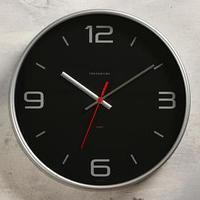 Часы настенные, серия Интерьер 'Эдит' d30.5 см, серебро