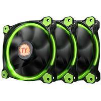 Вентилятор для корпуса Thermaltake Riing 12 LED Radiator Fan Green 3 Pack, CL-F055-PL12GR-A