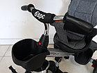 """Велосипед трехколесный детский """"Барс"""" с родительской ручкой и капюшоном, фото 4"""