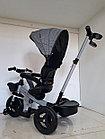 """Велосипед трехколесный детский """"Барс"""" с родительской ручкой и капюшоном, фото 5"""