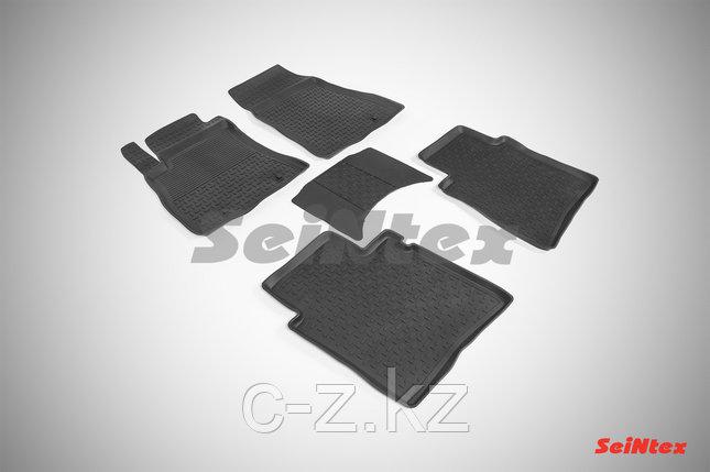 Резиновые коврики с высоким бортом для Nissan Sentra 2014-н.в., фото 2