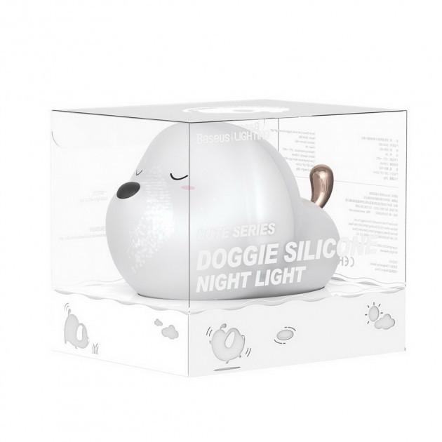 Ночник Baseus Cute Series Doggie Silicone Night Light White (DGAM-B02)
