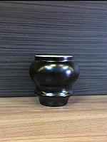Ножка мебельная, деревянная. 8 см, черная