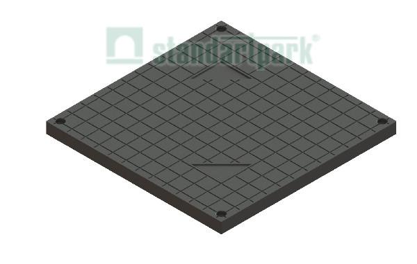 Крышка PolyMax Basic К-39.39-ПП пластиковая черная к дождеприемнику 400*400