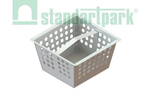 Корзина для дождеприемника-пескоуловителя 400*400 ДПП-31.33.18-ПП из оцинкованной стали