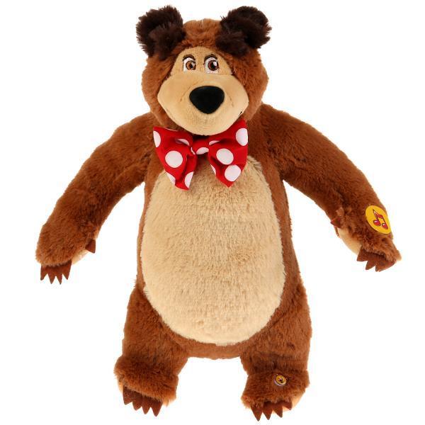 """Мульти-Пульти Мягкая игрушка """"Маша и медведь"""" Мишка, 28 см., озвученная"""