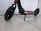 Складной двухколесный самокат Scooter для подростков с большими колесами, фото 7