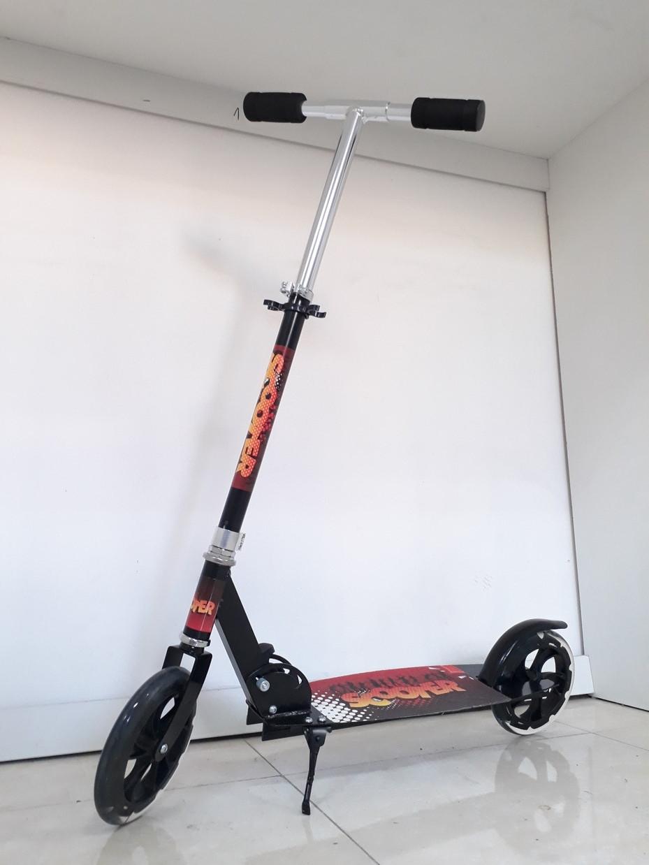 Складной двухколесный самокат Scooter для подростков с большими колесами