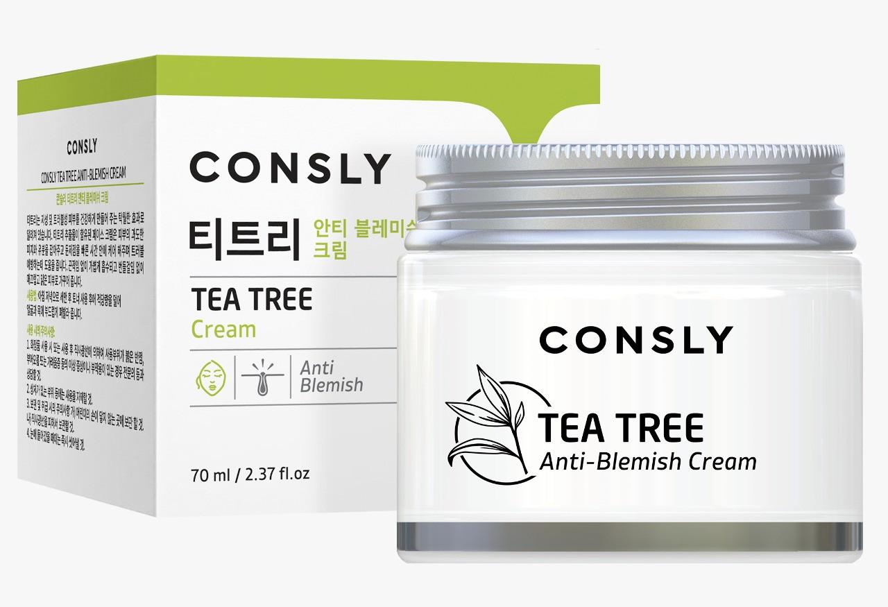 Consly Крем для проблемной кожи лица с чайным деревом Tea Tree Anti-Blemish Cream / 70 мл.