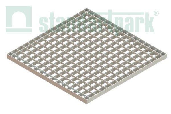 Решетка водоприемная PolyMax Basic РВ- 50.48.48.33 ячеистая стальная оцинкованная 33х33х2