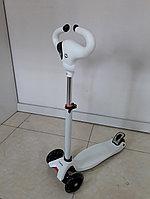 Трехколесный детский самокат Scooter для детей Коровка. Рассрочка. Kaspi RED.
