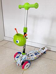 Четырехколесный детский самокат Scooter для детей Мордашка. Рассрочка. Kaspi RED.