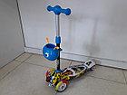 Оригинальный четырехколесный детский самокат Scooter для детей Мордашка. Рассрочка. Kaspi RED., фото 2