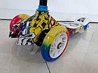 Оригинальный четырехколесный детский самокат Scooter для детей Мордашка. Рассрочка. Kaspi RED., фото 5