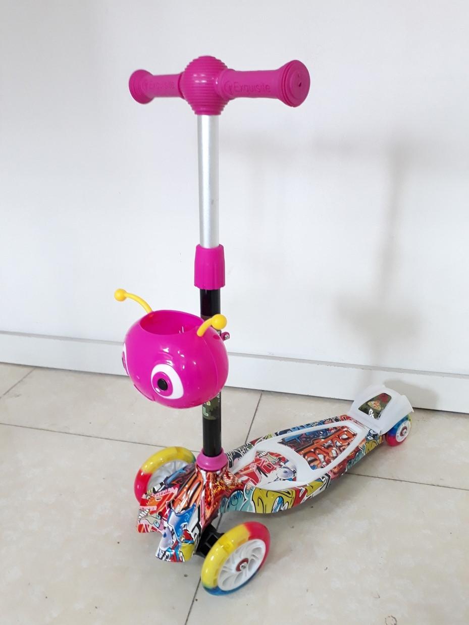 Четырехколесный детский самокат Scooter для детей Мордашка. Оригинал 100%. Рассрочка. Kaspi RED.