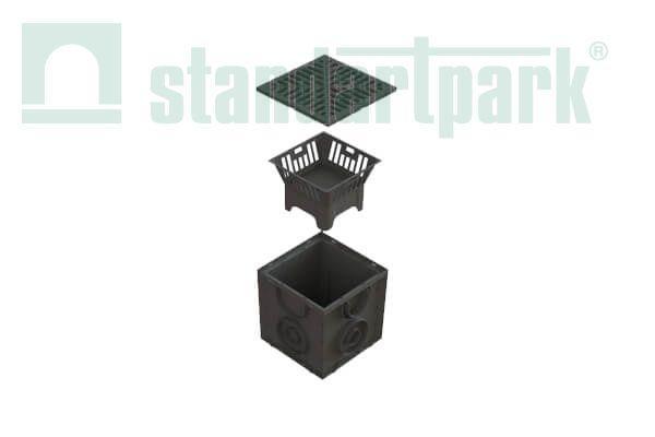 Дождеприемник пластиковый S'park ДП-25.25-ПП с РВ щель. ПП (комплект)