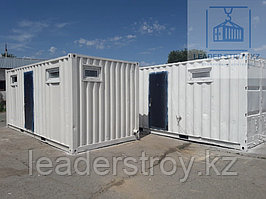 Санитарный контейнер для строителей на базе 20фут.