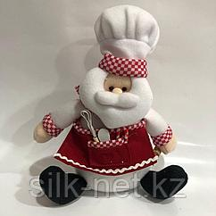Мягкая игрушка Дед мороз повар