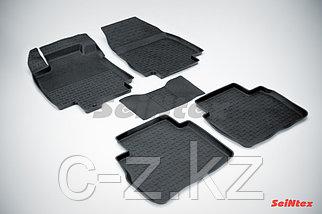 Резиновые коврики с высоким бортом для Nissan Tiida 2007-2015