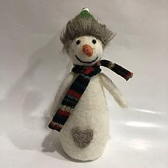Игрушка мягконабивная снеговик