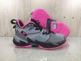 """Баскетбольные кроссовки Jordan Why Not Zero 3 (III) """"Pink Gray"""" (36-46)"""