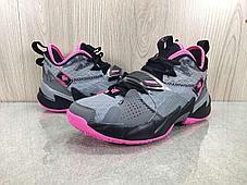 """Баскетбольные кроссовки Jordan Why Not Zero 3 (III) """"Pink Gray"""" (36-46), фото 3"""