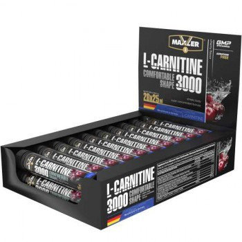 L-карнитин Maxler L-Carnitin 3000, 25 х 20 ампул., фото 2