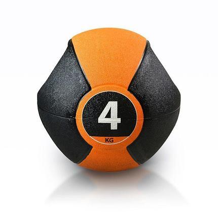 Медицинбол с ручками PURE2IMPROVE MEDICINE BALL 4 кг, фото 2