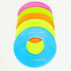 Маркеры для тренировок цветные QUICKPLAY MULTI COLORED FLAT MARKERS x10