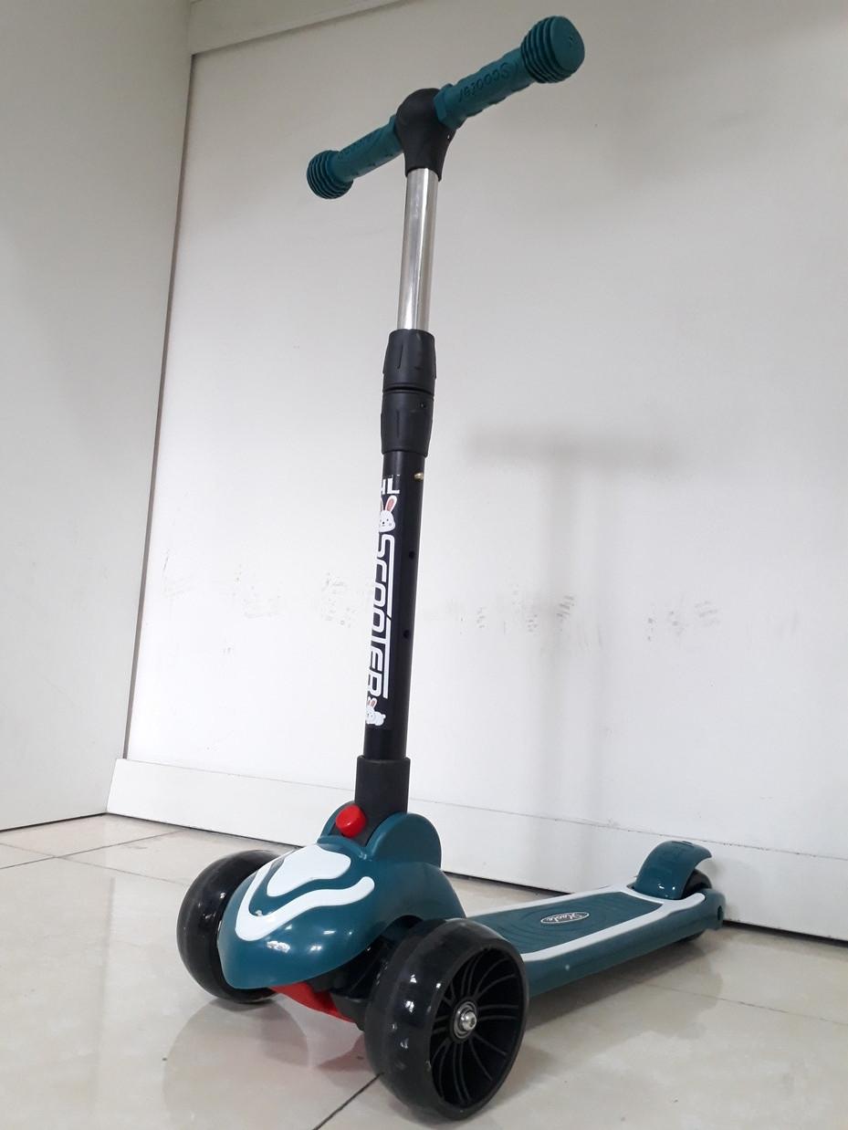 Музыкальный детский самокат Scooter. Трехколесный. Складной. Оригинал 100%