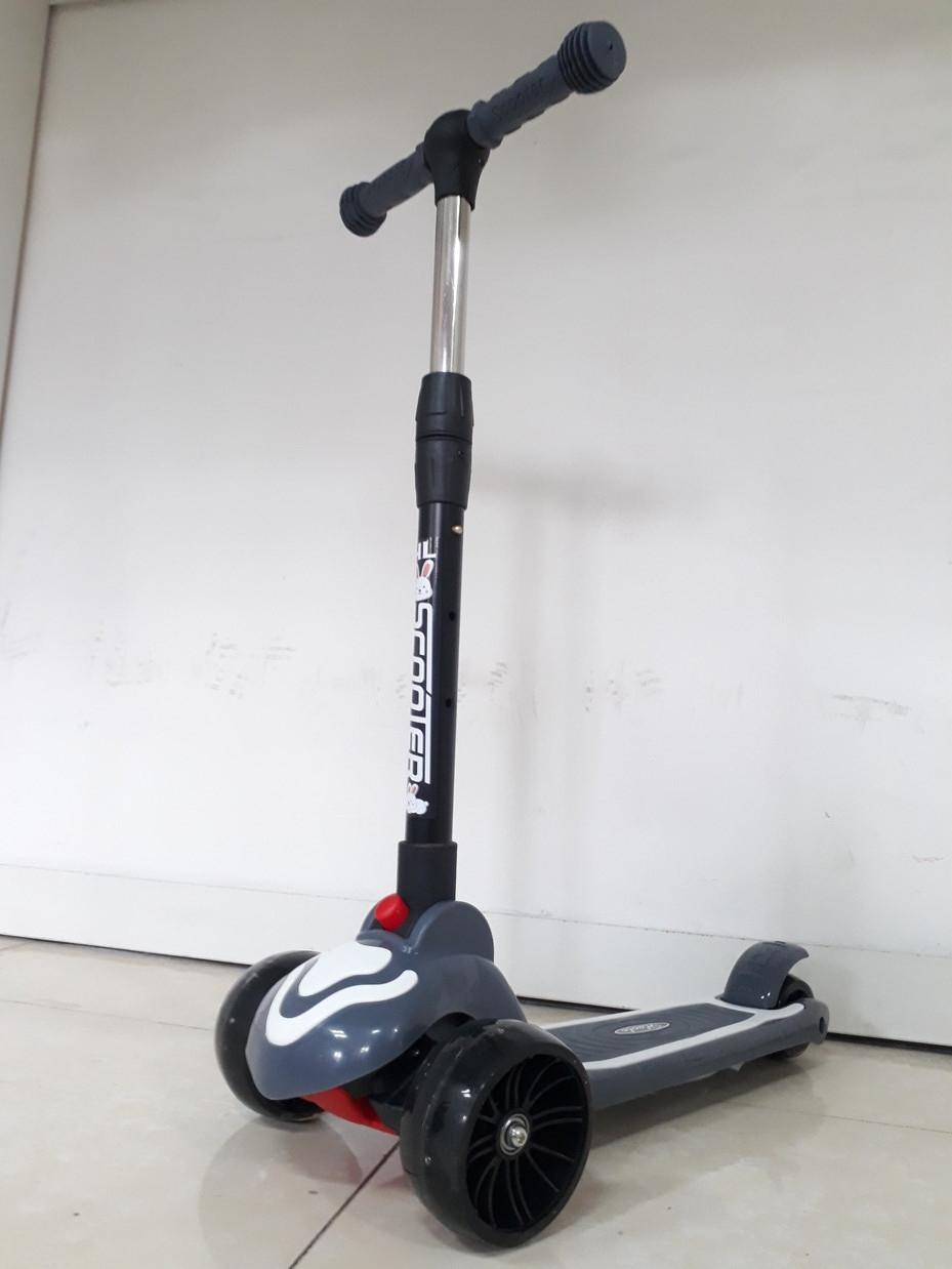 Музыкальный трехколесный самокат Scooter. Для детей. Складной. Оригинал 100%