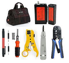 Набор инструментов для обжима витой пары и контроля распиновки разъемов RJ45/11