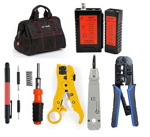 Набор инструментов для обжима витой пары и контроля распиновки разъемов RJ45/11, фото 2
