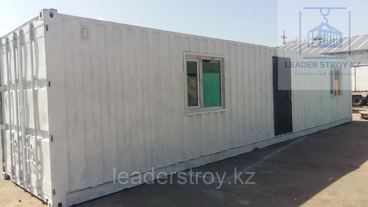 Утепленный контейнер под жилье на строительную компанию 40фут.