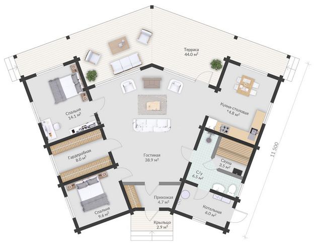 проекты деревянных домов, план одноэтажного дома и строительство под ключ, проектирование и строительство деревянных домов.