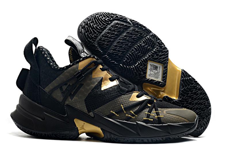 """Баскетбольные кроссовки Jordan Why Not Zero 3 (III) """"Black Gold"""" (36-46)"""