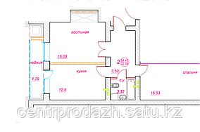 2 комнатная квартира ЖК Viva Grand (Вива Гранд) 58.42 м²