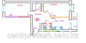 2 комнатная квартира ЖК Viva Grand (Вива Гранд) 63.41 м²