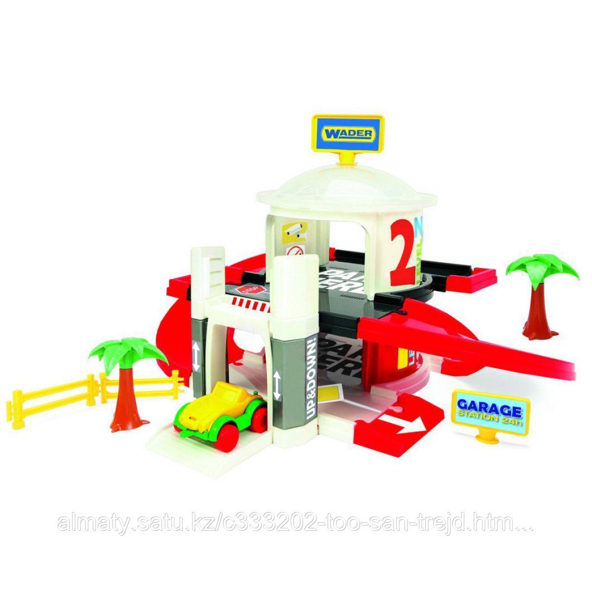 Игровой набор Wader  Гараж с лифтом 2 уровня