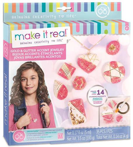 Make it Real Набор для создания волшебных украшений Сверкающие кулоны