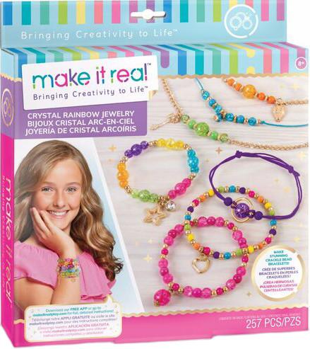 Make It Real Набор для создания Шарм- браслетов Хрустальная радуга