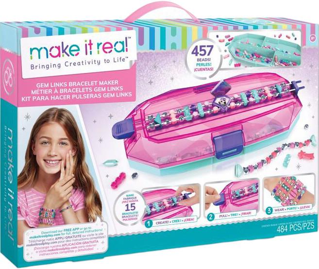 Make it Real Набор шарм-браслетов с верстатом Девичий клад Gem Links Bracelet Maker