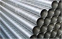 Воздуховоды (трубы) круглые спирально-навивные из оцинкованной стали диаметром 225 мм для вентиляции