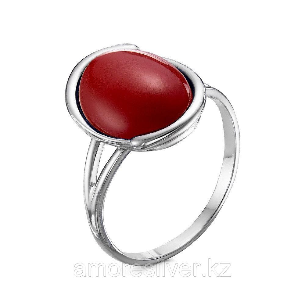 Кольцо Красная пресня серебро с родием, яшма иск., , овал 23610312Д8 размеры - 18