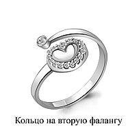 Кольцо AQUAMARINE серебро с родием, фианит, love 67523А.5