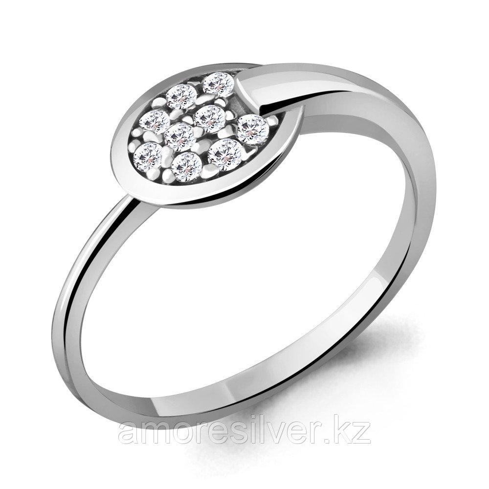Кольцо AQUAMARINE серебро с родием, фианит, геометрия 68749А.5 размеры - 17,5