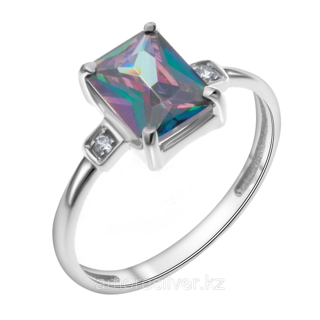 "Кольцо TEOSA серебро с родием, цирконий мистик, ""каратник"" 1000-0346-CK размеры - 18"